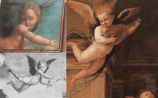 Confronto tra l'angelo di Zacchia e quello di fra' Bartolomeo