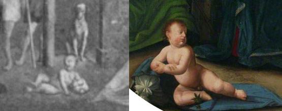 Confronto tra il Bambino di Zacchia e quello di Ridolfo