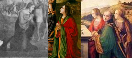 Confronto tra la Madonna di Zacchia, e le figure di Ridolfo del Ghirlandaio