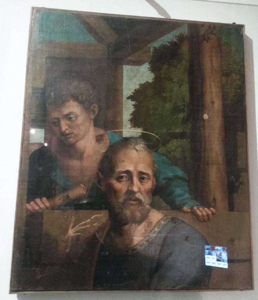 Il frammento principale (san Giuseppe e il pastore)