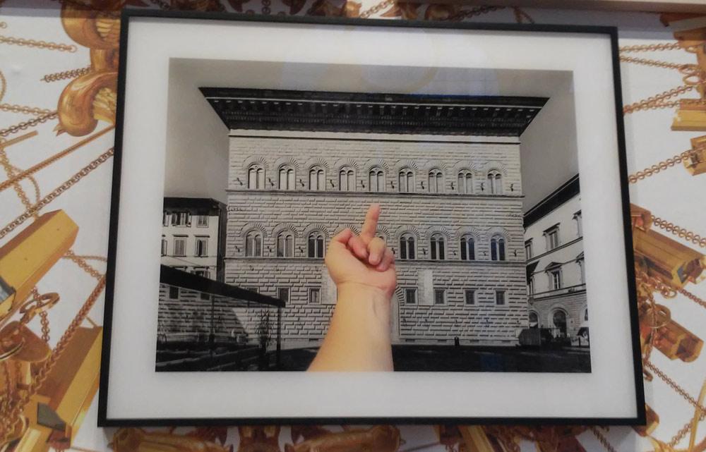 La fotografia della serie Study of Perspective dedicata a Palazzo Strozzi