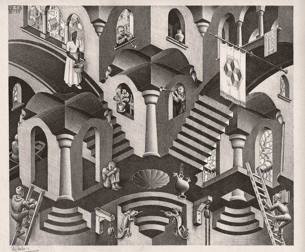 Maurits Cornelis Escher, Convesso e Concavo