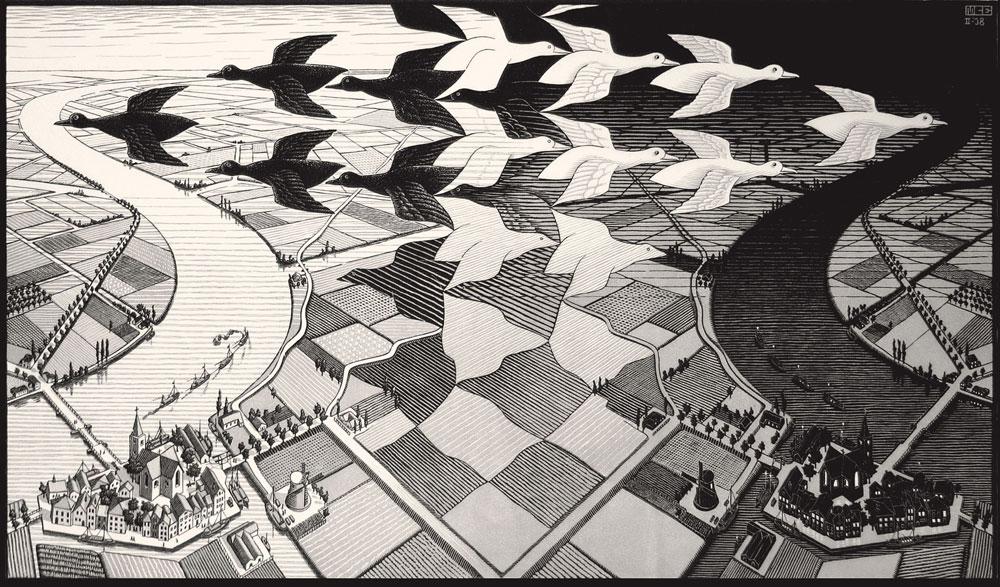 Maurits Cornelis Escher, Giorno e Notte