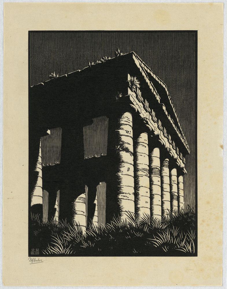 Maurits Cornelis Escher, Tempio di Segesta