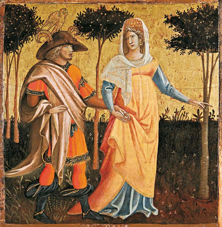 Giovanni dal Ponte, Coppia d'innamorati