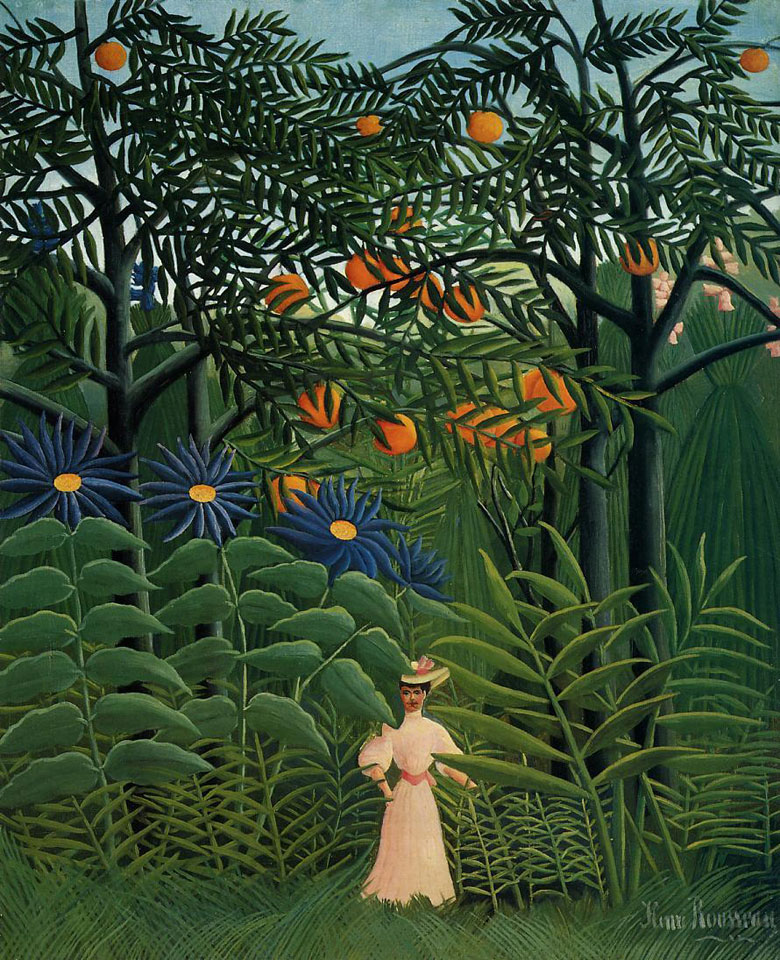 Henri Rousseau, Donna che cammina nella foresta