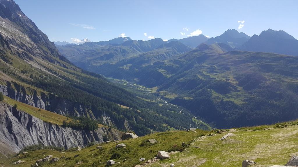 Panorama dal Monte Bianco