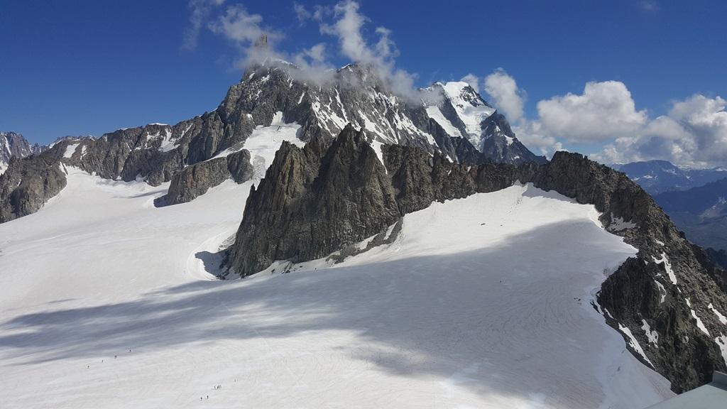Veduta del Monte Bianco