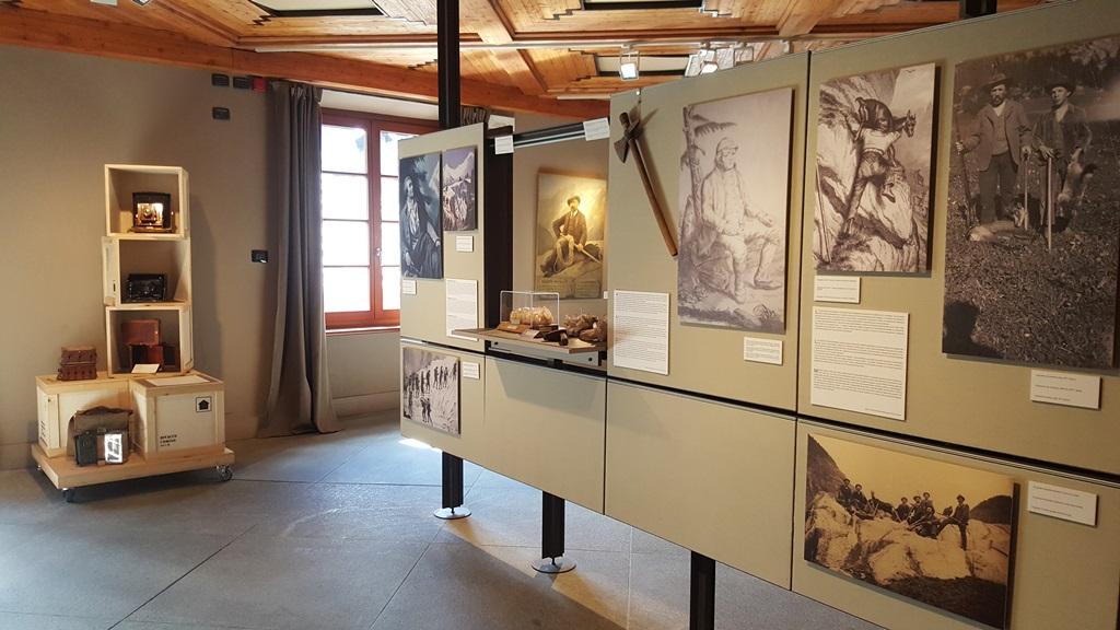 Una sala del Museo Alpino Duca degli Abruzzi