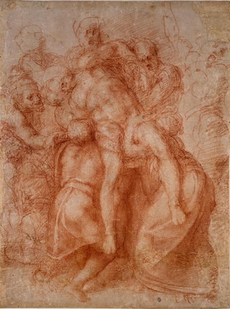 Michelangelo, Studio per una Deposizione