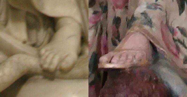 Piede dell'Immacolata e piede della Madonna del Rosario