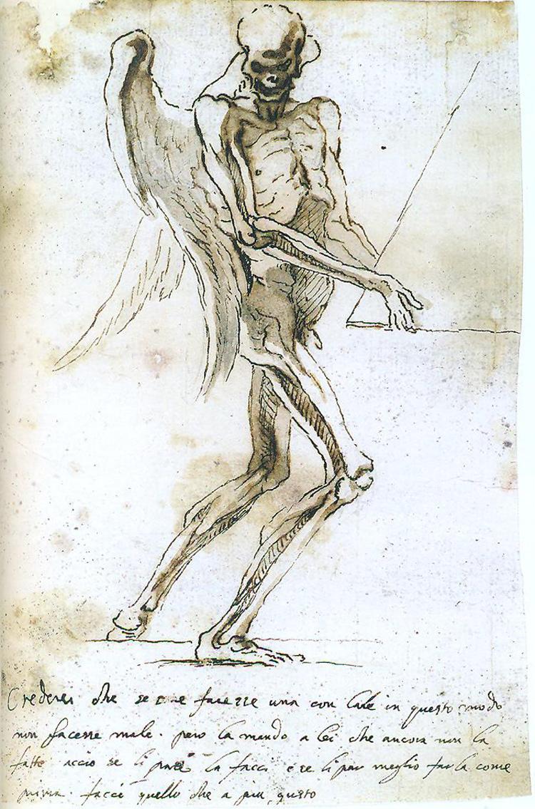 Gian Lorenzo Bernini, Scheletro alato che sorregge una piramide