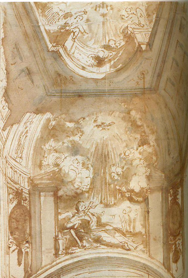 Hendrik Frans Verbrugghen, Progetto per l'altare e la decorazione della chiesa dei Gesuiti di Utrecht
