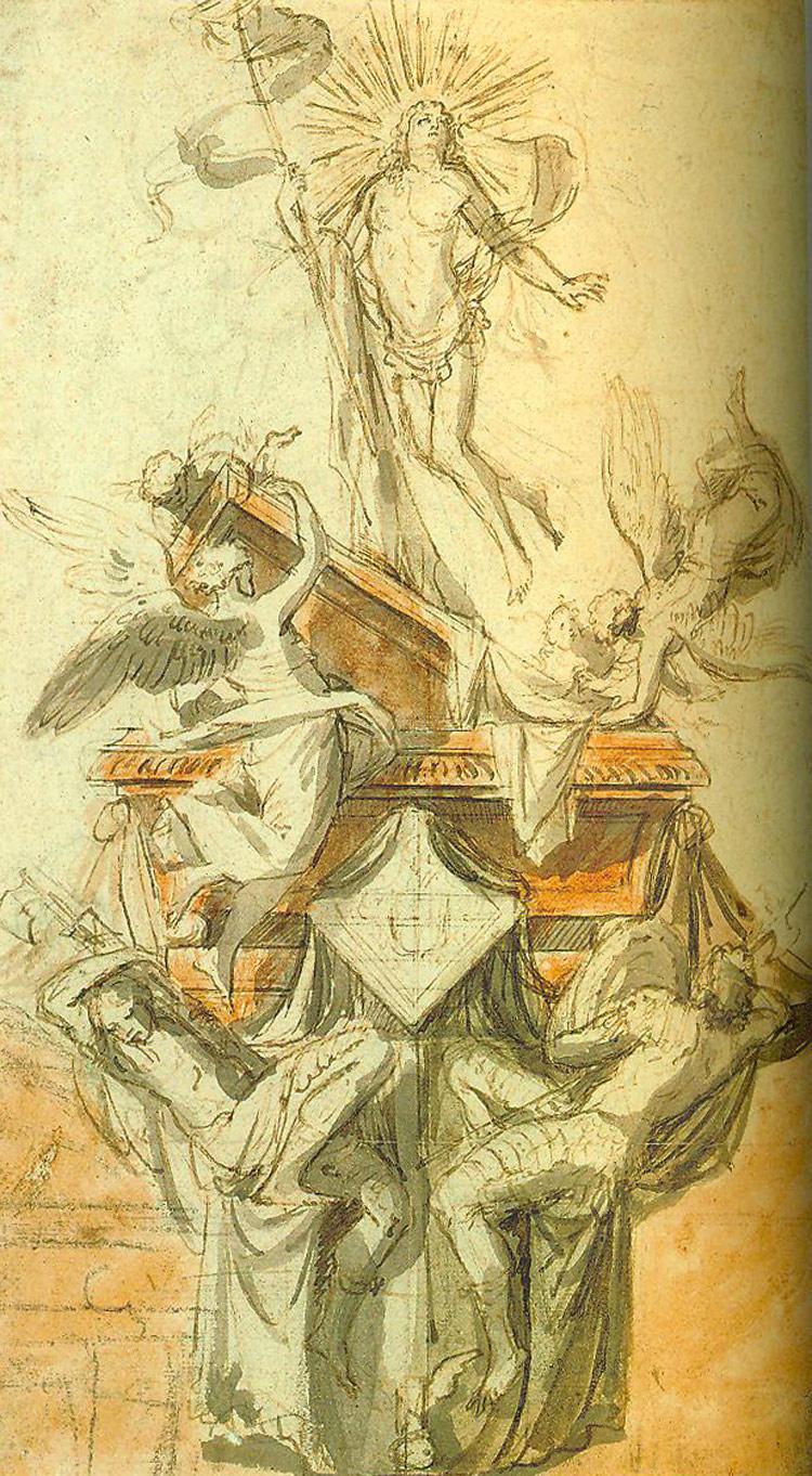Pieter II Verbruggen, Progetto per un monumento funerario con la Resurrezione di Cristo