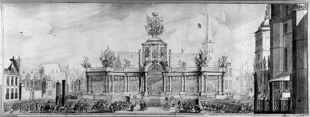 Pieter I e Pieter II van Baurscheit, Tribuna per l'ingresso trionfale dell'imperatore Carlo VI a Bruxelles