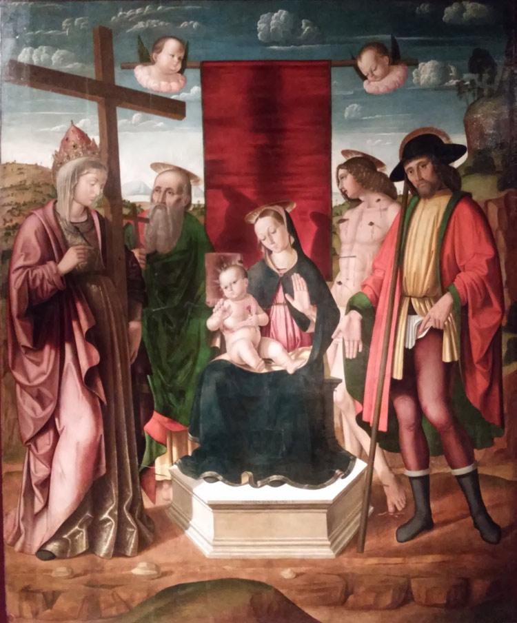 Giovanni Santi, Madonna con Bambino e santi