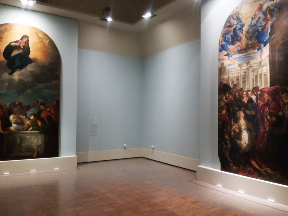 La sala con le opere dei pittori veneti