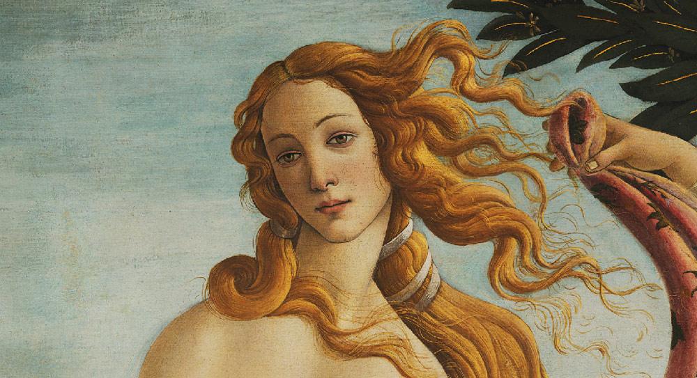 Sandro Botticelli, Venere, Particolare