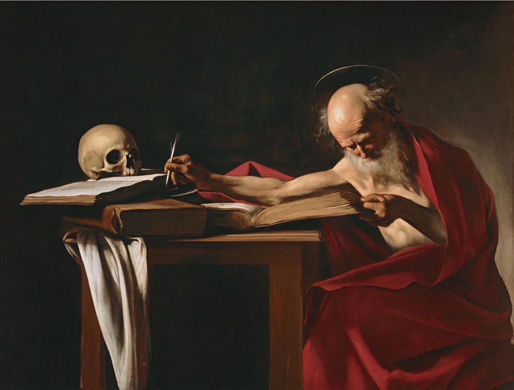 Caravaggio, San Girolamo scrivente