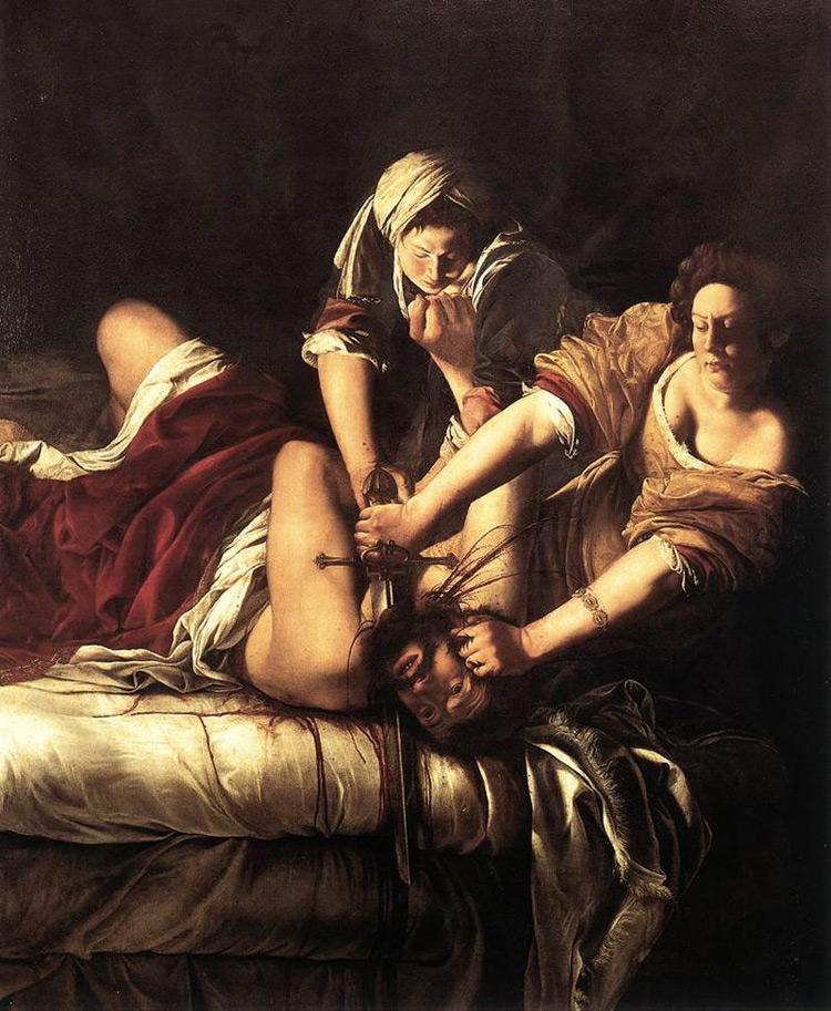 Artemisia Gentileschi, Giuditta decapita Oloferne