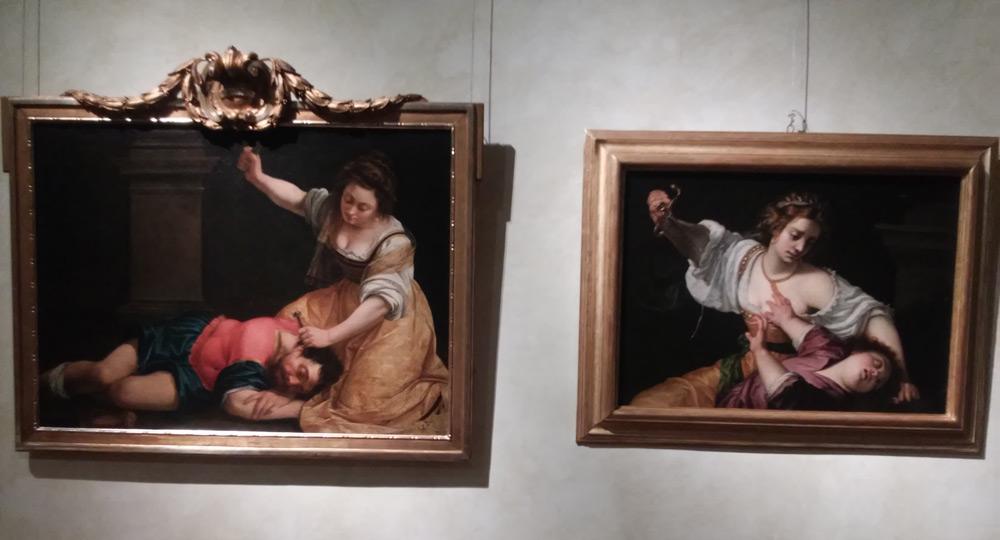 Artemisia: a sinistra Giale e Sisara (Budapest), a destra Medea (collezione privata)