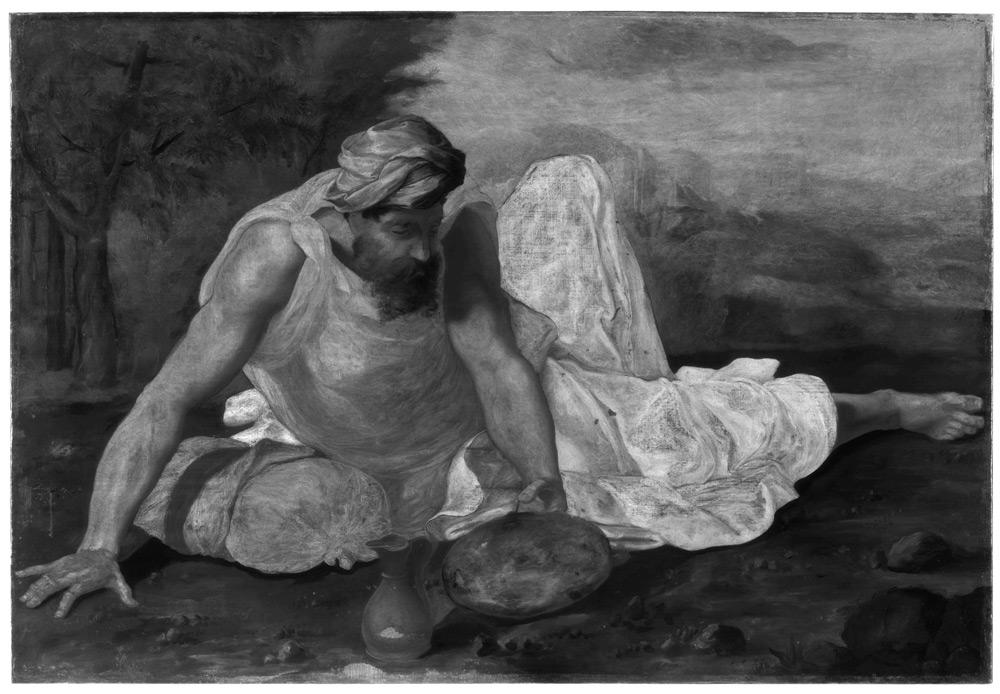 Daniele da Volterra, Elia nel deserto, riflettografia