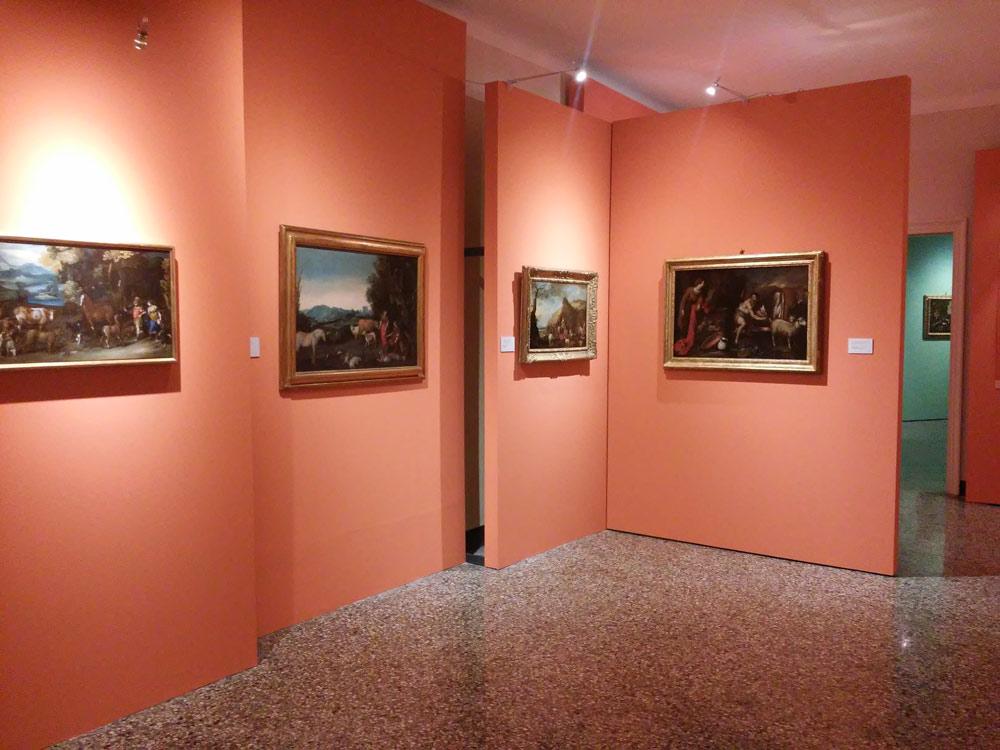 Sezione della mostra dedicata alle favole e ai miti