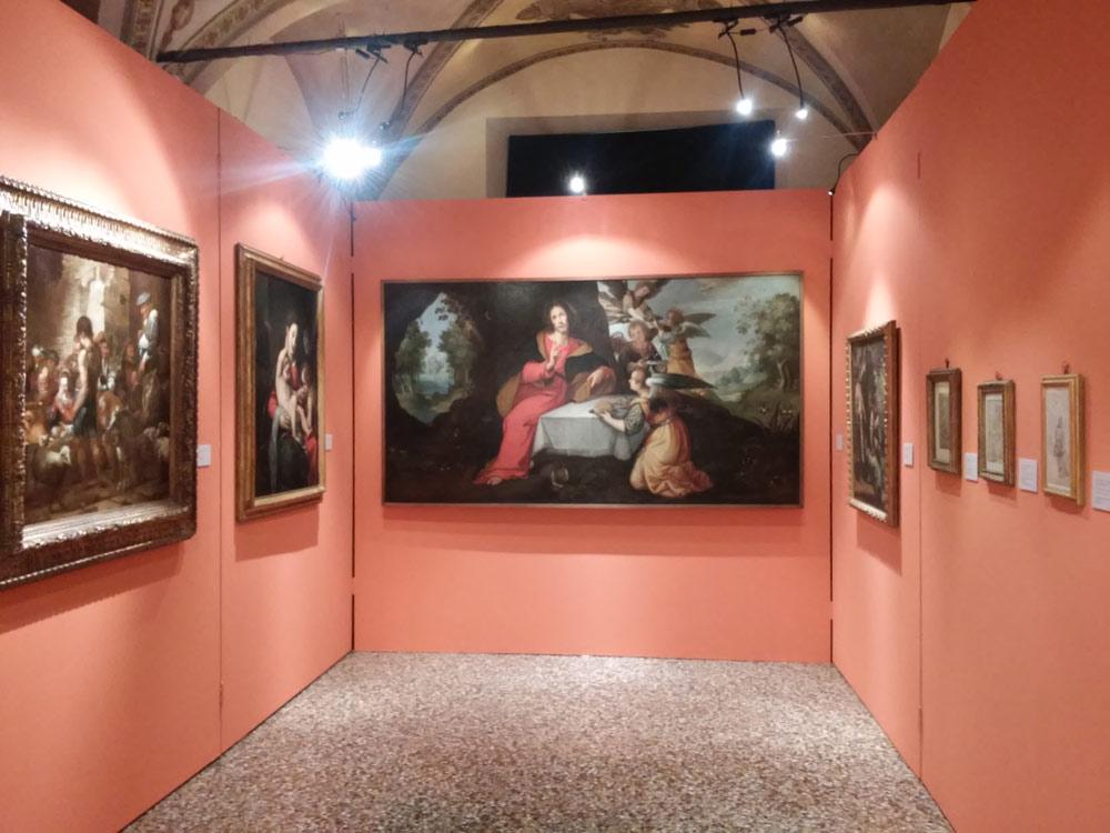 Prima sala della mostra Sinibaldo Scorza. Favole e nature all'alba del Barocco