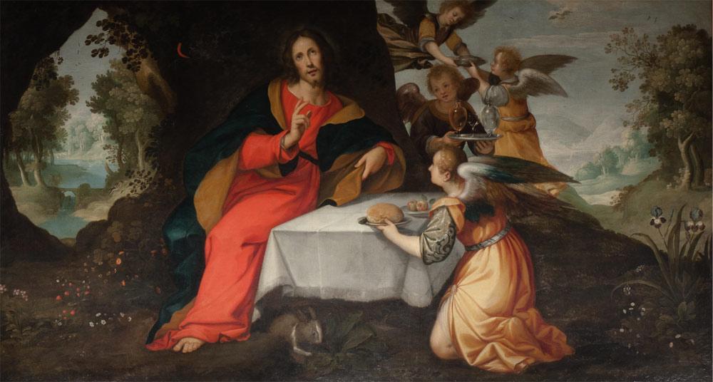 Sinibaldo Scorza, Gesù servito dagli angeli