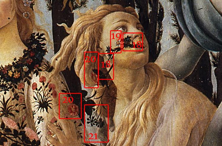 Le piante che escono dalla bocca di Cloris