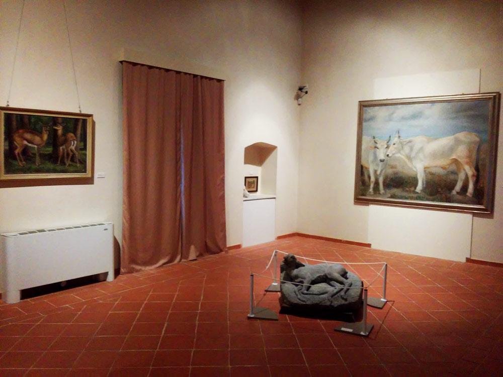 La sala con gli animali della mostra del 1930