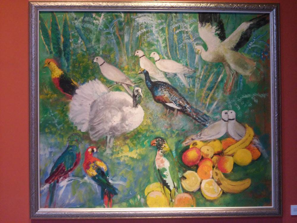 Arturo Dazzi, Uccelli con frutta