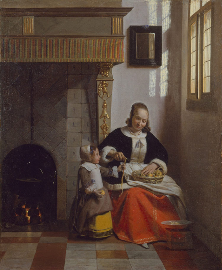 Pieter de Hooch, Donna che sbuccia mele