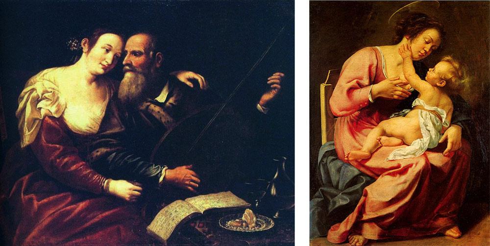 Confronto tra Domenico Fiasella e Artemisia Gentileschi