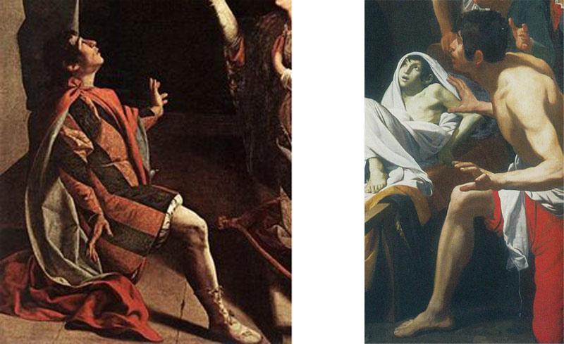 Confronto tra Orazio Gentileschi e Domenico Fiasella