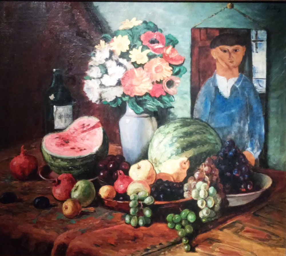 Moïse Kisling e Amedeo Modigliani, Natura morta con ritratto di Kisling dipinto da Modigliani