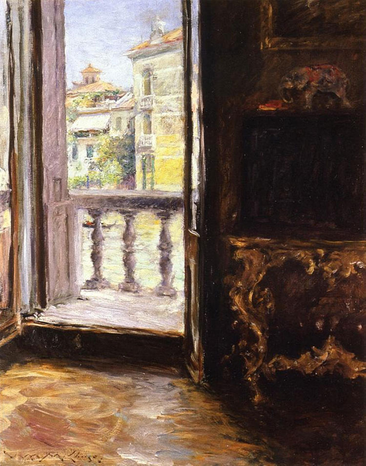 William Merritt Chase, Balcone veneziano