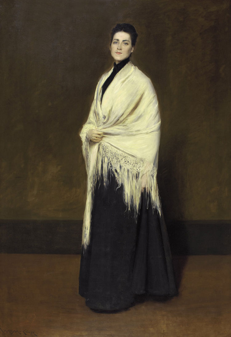 William Merritt Chase, Donna dallo scialle bianco