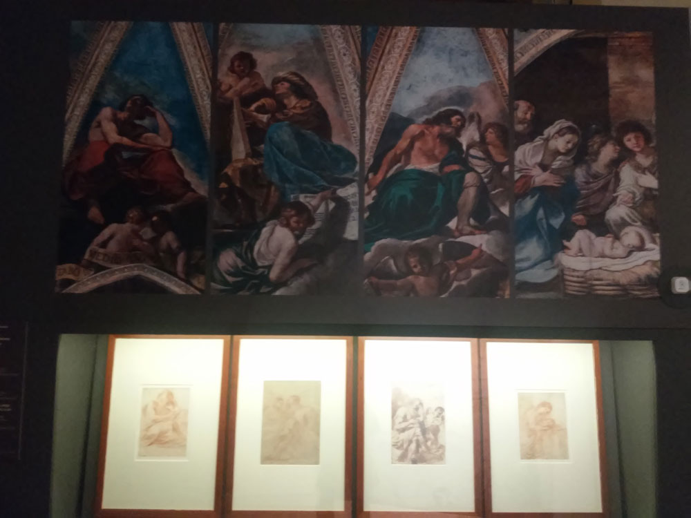 I disegni nella seconda sezione della mostra