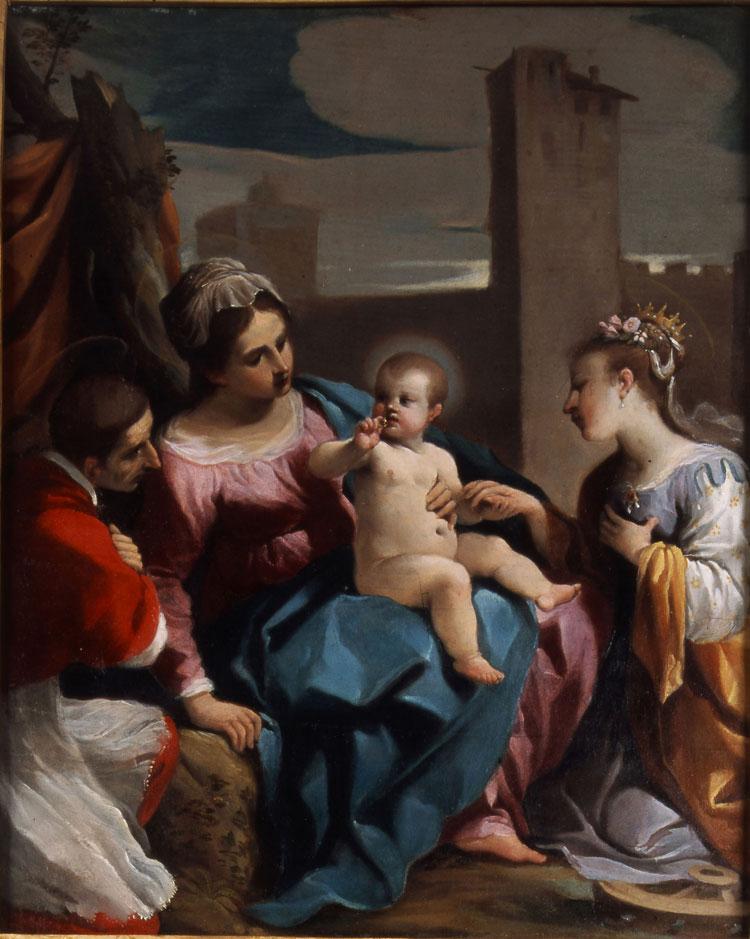 Guercino, Matrimonio mistico di santa Caterina alla presenza di san Carlo Borromeo
