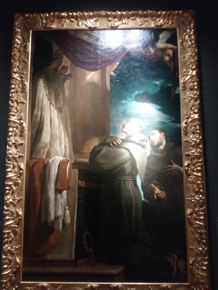 Guercino, San Bernardino da Siena e san Francesco d'Assisi in preghiera davanti alla Madonna di Loreto