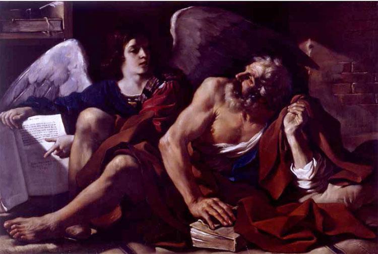 Guercino, San Matteo e l'angelo