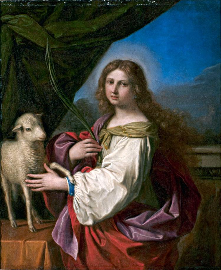 Guercino, Sant'Agnese