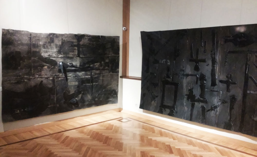 I black paintings di Luca Pignatelli