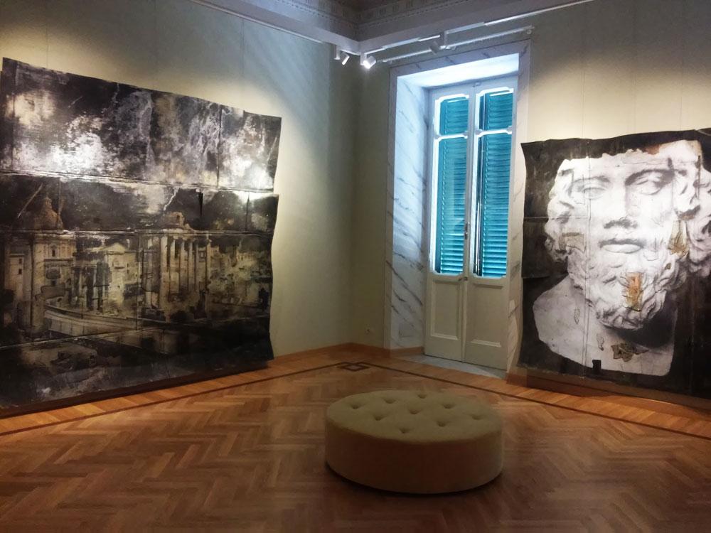 La sala con le vedute di Roma