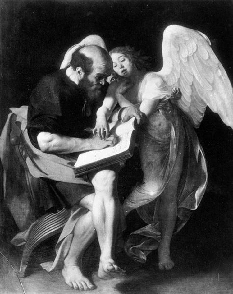 Caravaggio, San Matteo e l'angelo