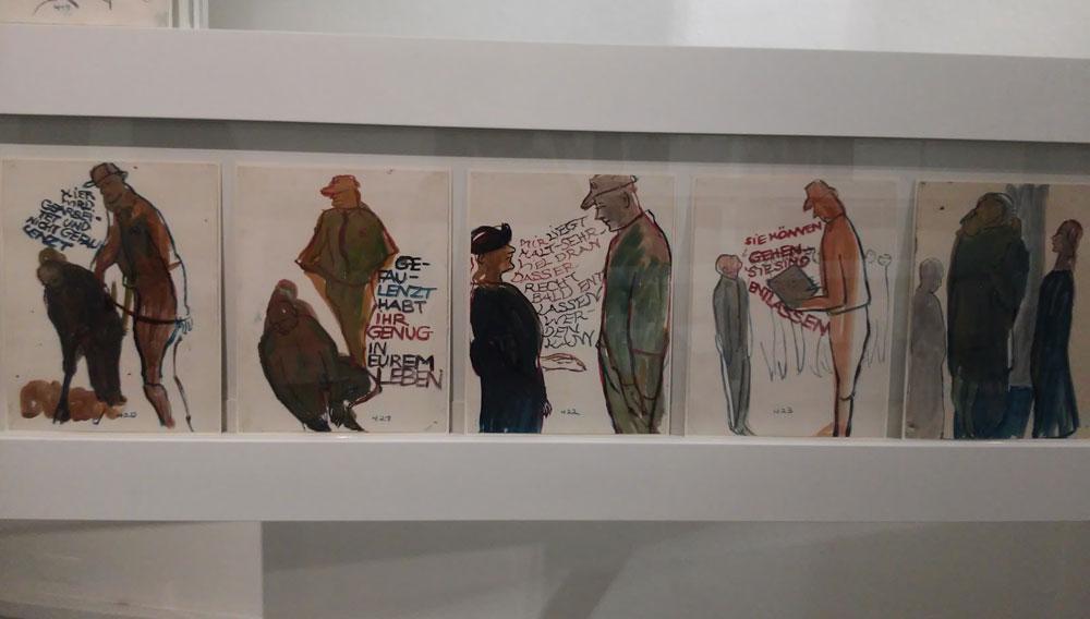 I disegni che raccontano la liberazione del padre di Charlotte dal campo di concentramento