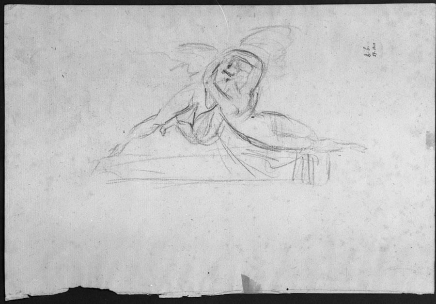 Antonio Canova, Amore e Psiche giacenti, disegno