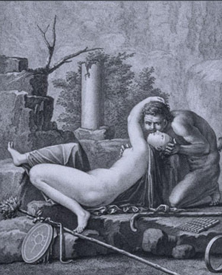 Filippo Morghen, Fauno e baccante
