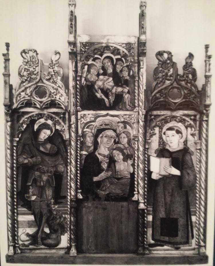 Il trittico attribuito a Benedetto di Marco prima del terremoto